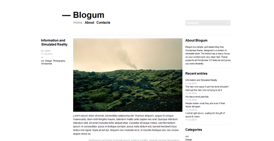 Blogum WordPress Theme