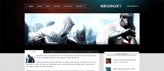 Mojo Themes BlossomSoft free wordpress theme