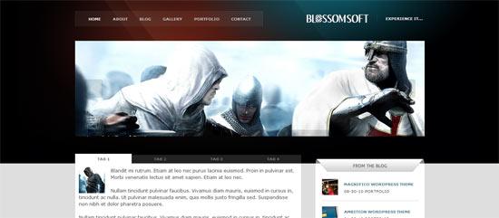 Mojo Themes BlossomSoft free wordpress theme