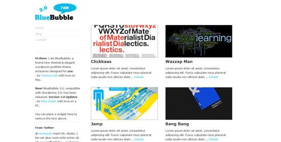 Bluebubble WordPress theme