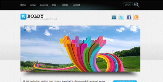 Site 5 Boldy free wordpress theme