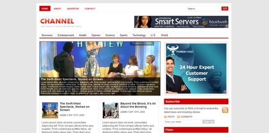 Channel free wordpress theme