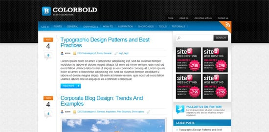 Colorbold free wordpress theme
