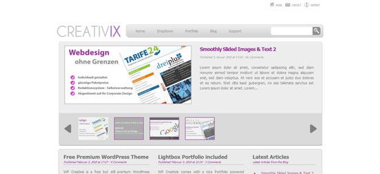 WP Themix Creativix free wordpress theme