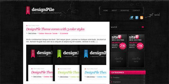 Design Pile free wordpress theme