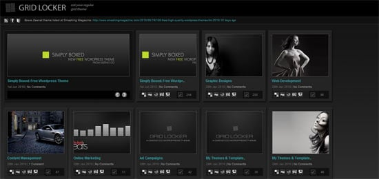 Dizenoco Gridlocker free wordpress theme