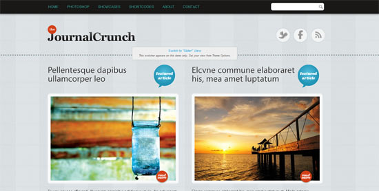 Site 5 Journal Crunch free wordpress theme