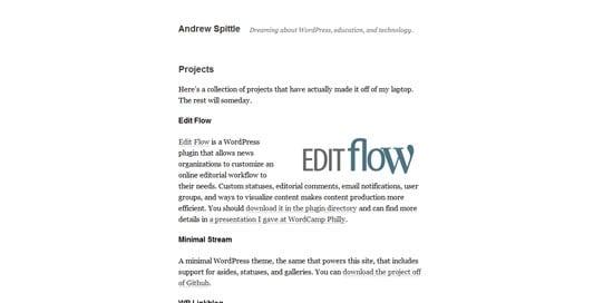 Minimal Stream wordpress theme