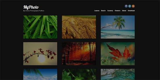 WP Explorer MyPhoto free wordpress theme