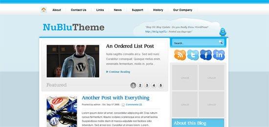 NuBlu free wordpress theme