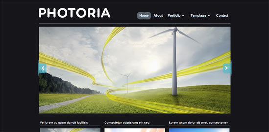 WP Zoom Photoria free wordpress theme