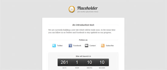Woo Themes Placeholder free wordpress theme