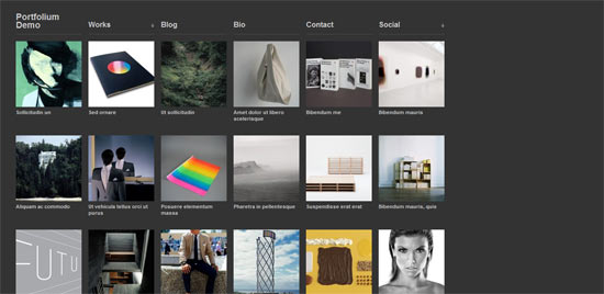 Portfolium free wordpress theme