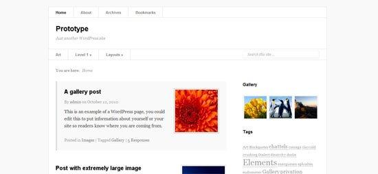 Prototype WordPress theme