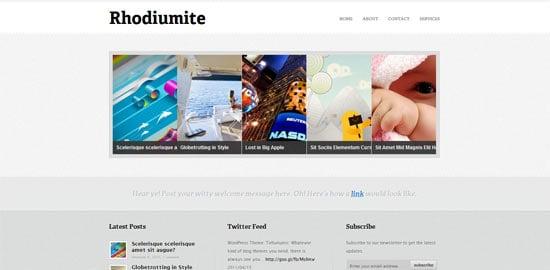 Padd Solutions Rhodiumite free wordpress theme