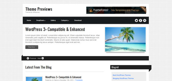 Ribbons free wordpress theme