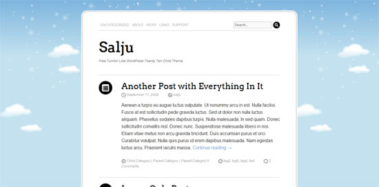 Salju free WordPress Theme