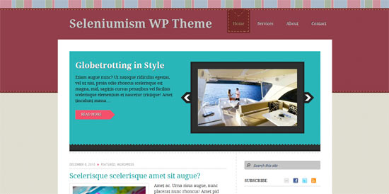 Seleniunism free wordpress theme