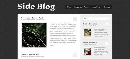 Sideblog wordpress theme
