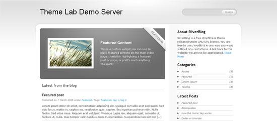 Silver blog free wordpress theme