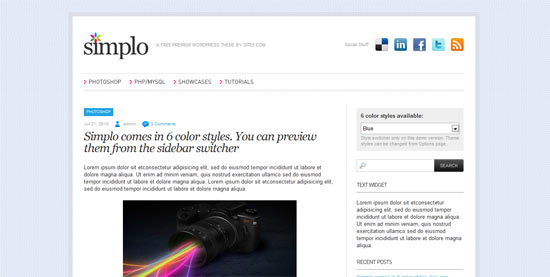 Simplo free wordpress theme