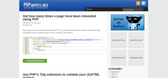 WebDevCat Snippets free wordpress theme