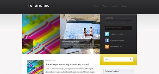 Padd Solutions Telluriumic free wordpress theme