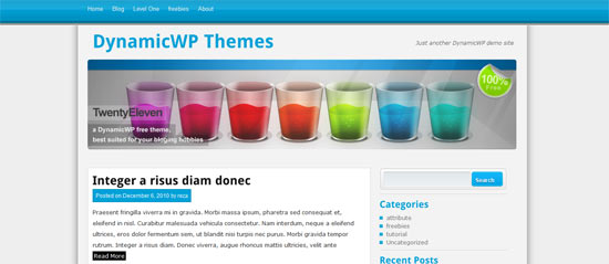 Dynamic WP Twenty Eleven free wordpress theme