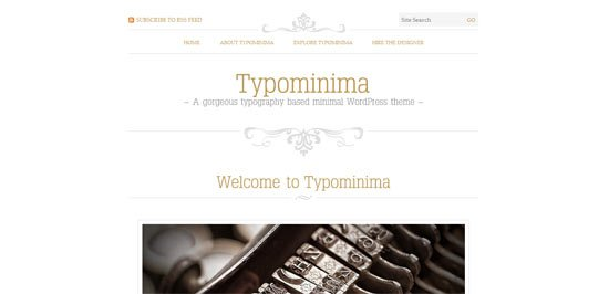 Typominima free wordpress theme