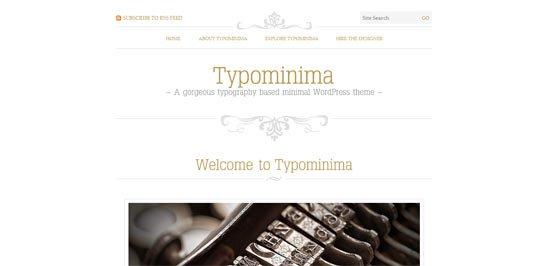 Typominima free wordpress theme
