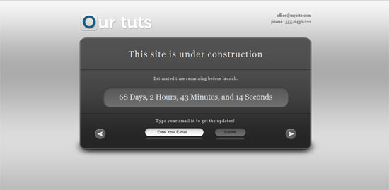 Delicious Themes Underconstruction free wordpress theme