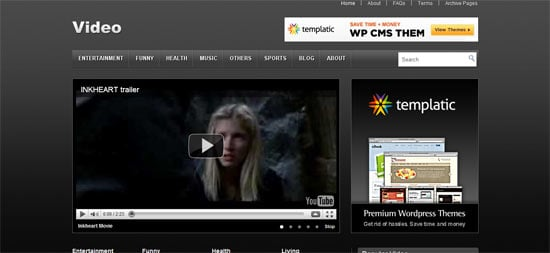 Video free wordpress theme