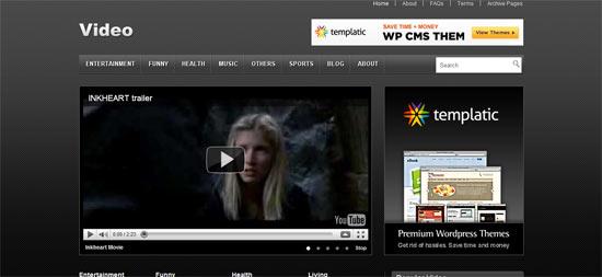 Video free wordpress theme