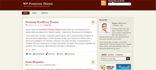 WP Premium free wordpress theme