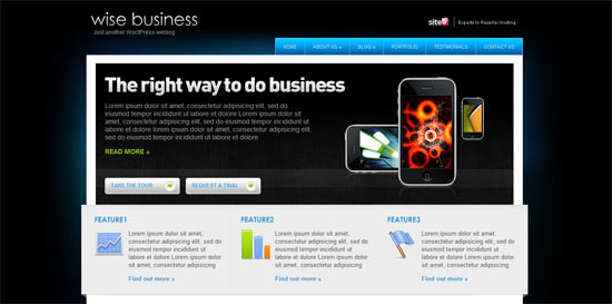 Site 5 Wise Business free wordpress theme