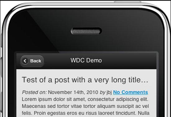 Web Dev Cat jQuery Mobile free wordpress theme