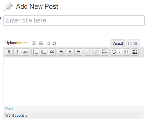 add wordpress post