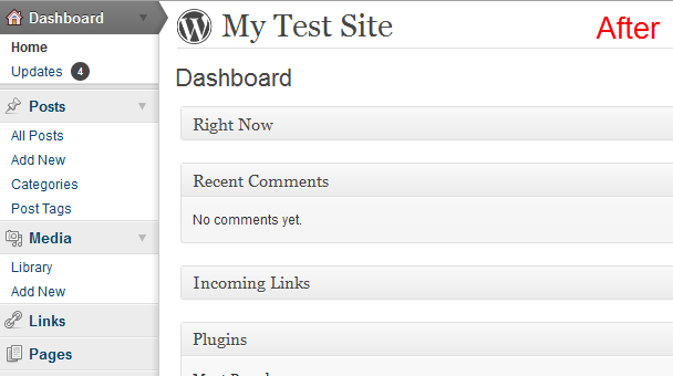 dashboard UI  after tweaks