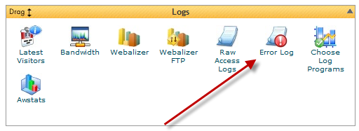 cpanel error log icon