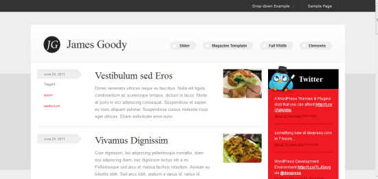 James Goody WordPress Theme from DevPress
