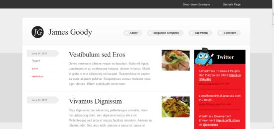 James Goody WordPress Theme from DevPress