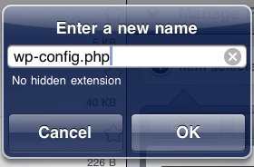 file rename to wp-config