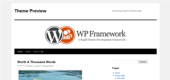 WP Framework Theme from DevPress