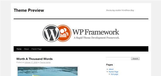 WP Framework Theme from DevPress