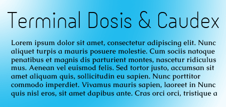 Terminal Dosis and Caudex