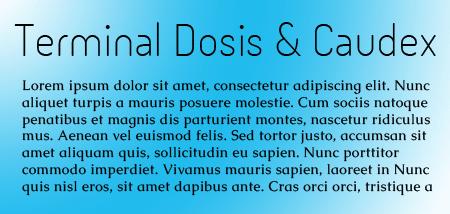 Terminal Dosis and Caudex
