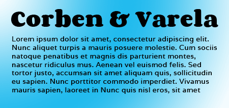 Corben and Varela Google Fonts