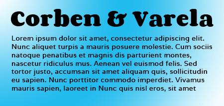 Corben and Varela Google Fonts