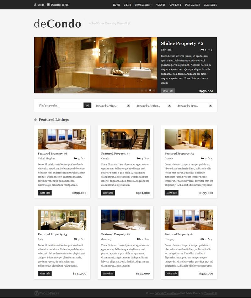 Decondo Real Estate WordPress Theme