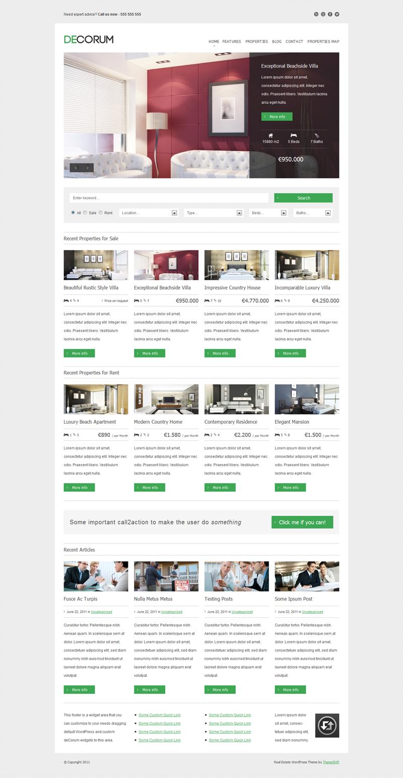 Decorum Real Estate WordPress Theme
